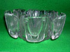 VINTAGE RETRO RAVENHEAD FLAIR GLASS BOWL / CANDLE HOLDER Scandinavian FREE P+P 2 | eBay