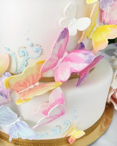 Butterflies Cake Instagram de @delicatessepostres • 126 Me gusta Sugar Art, Cake Art, Watercolor, Birthday, Instagram Posts, Artist, Watercolor Painting, Pen And Wash, Birthdays