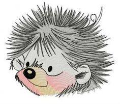 Small hedgehog 4 embroidery design