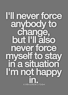 Never again!  Learned that lesson the long ... hard way.  You have nothing to share with others if YOU aren't happy first & foremost!