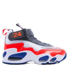 Shoes - Nike Kids Griffey Max 1 Grade School - White Total Crimson Hyper Blue - DTLR - Down Town Locker Room. Your Fashion, Your Lifestyle! Shop Sneakers, Boots, Basketball shoes and more from Nike, Jordan, Timberland and New Balance
