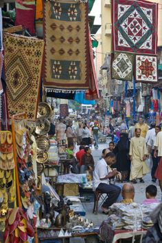 The Great Bazaar Khan Al-Khalili In Islamic Cairo Egypt.