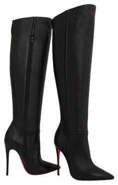 93bd62563e5 Christian Louboutin Black New 35it Armurabotta Nappa Thigh High Over Knee  Heel Lady Toe Red Sole
