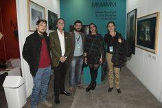 Visita del Presidente de Fundación arteBA Alec Oxenford, junto al artista Lucas Marín, Tomas Giacchi, Lucila Cairo Guerra y la Dir. Laura Valdivieso. Foto: Matías Salgado, gentileza de Nevada