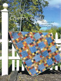 Sew Unique Creations: Quilt-It Magazine - a newbie on the quilting block! This would be awesome with my plaid material stash and old blue jeans!
