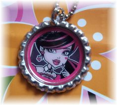 Draculaura Monster High Necklace Pendant Ball by BrokenMessDesigns, $5.99