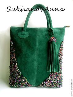 Free - image only - inspiration for sewing bag. Beaded Purses, Beaded Bags, Embroidery Bags, Beaded Embroidery, Handmade Handbags, Handmade Bags, Estilo Hippie, Buy Bags, Diy Handbag