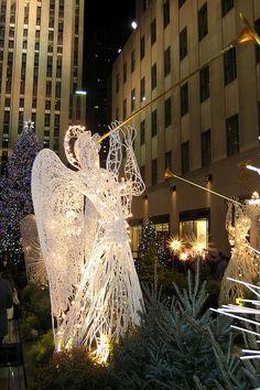 Christmas in Channel Gardens, Rockefeller Center , NYC