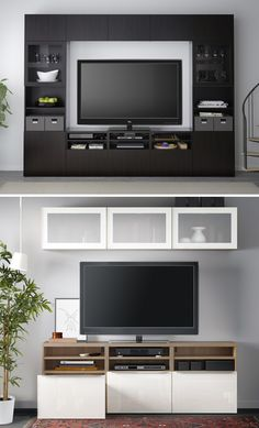 Re-center your entertainment! The IKEA BESTÅ storage system is the neat and stylish way to organize all your living room essentials - plus, it can grow & adapt as your storage needs change!