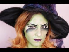 Fasching/Halloween Witch MakeUp Tutorial   TheBeautysAddiction - YouTube