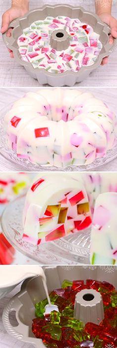 "Gelatina mosaico, Especial Navidad! "" By Pam.  #gelatina #mosaico #especial #gelato #navidad #crema #cheesecake #postres #cakes #pan #panfrances #panettone #panes #pantone #pan #recetas #recipe #casero #torta #tartas #pastel #nestlecocina #bizcocho #bizcochuelo #tasty #cocina #chocolate   Si te gusta dinos HOLA y dale a Me Gusta MIREN..."