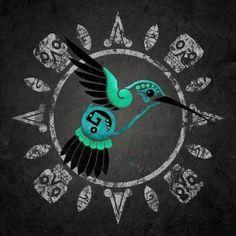 incan hummingbird art at DuckDuckGo Body Art Tattoos, Sleeve Tattoos, Tatoos, Viking Symbols, Egyptian Symbols, Art Chicano, Azteca Tattoo, Aztec Culture, Mexico Art