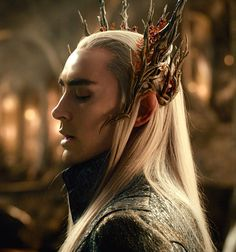 Lee Pace as Thranduil in The Hobbit: The Desolation of Smaug (2013).
