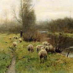 Anthonij (Anton) Rudolf Mauve - Dutch (1838-1888) Realist Painter, Hague School
