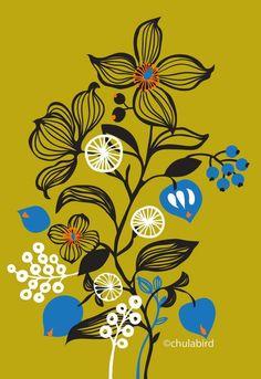 Dry flora - Art Print by Flower Drawing Tutorials, Wall Art Wallpaper, Indian Art Paintings, Japanese Flowers, Floral Wall Art, Floral Illustrations, Geometric Art, Textile Prints, Pattern Art