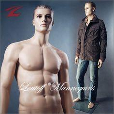 Loutoff Männliche Schaufensterpuppe mit skulptiertem Haar und klaren Gesichtszügen GM24