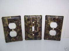 Light Switch Plate/Outlet Covers with Camouflage woodland or mossy oak. $8.99, via Etsy.