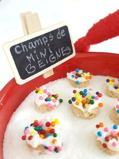 mini beignes de lutin / wooloo Champs, Cookies, Mini, Desserts, Candy, Sugar, Pixies, Children, Crack Crackers