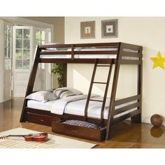 $548 - bottom 350 lbs & top 200lbs -.Wayfair - Mullin Twin over Full Bunk Bed with Storage