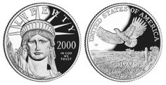 Platinum Liberty Dollar