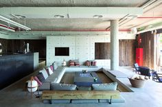 8 examples of how sunken seating has been incorporated into an interior
