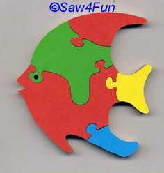 Angelfish Puzzle Scroll Saw Pattern