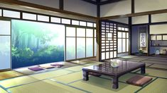 Anime Artwork, Cool Rooms, Illustration Art, Windows, Wallpaper, Places, Furniture, Backgrounds, Club
