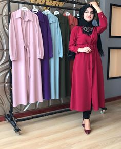Casual Hijab Outfit, Hijab Chic, Islamic Fashion, Muslim Fashion, Abaya Fashion, Fashion Dresses, Modele Hijab, Shirt Dress Pattern, Afghan Dresses