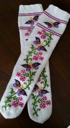 Fair Isle Knitting, Knitting Socks, Crochet Stitches, Floral Tie, Diy And Crafts, Cross Stitch, Embroidery, Handmade, Punto De Cruz