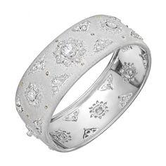 Buccellati 18k White Gold & Diamond Cuff Bracelet