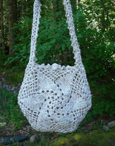 Whirligig Tote Bag - PA-202 - A crochet pattern from Nancy Brown-Designer. How cool is this bag, just asking to be taken shopping, to the beach, or just about anywhere you need a little tote bag. The pattern for this wonderful carry-all bag is designed for the Intermediate Crocheter. This pattern PDF can be purchased at my LoveCrochet Pattern Store for $3.49, just click on the photo.