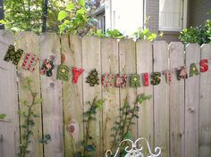 holiday decorations merry christmas garland by greengarland, $38.00