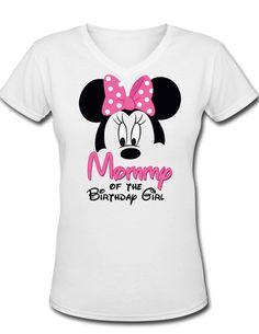 Minnie Mickey Mouse Mommy of the Birthday by ThePurpleMonkeyShop