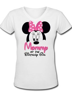 Minnie Mickey Mouse Mommy of the Birthday by ThePurpleMonkeyShop