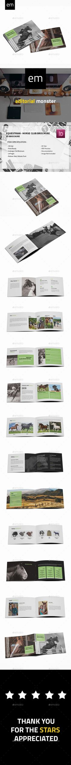 Equestrian  Horse Club Brochure — InDesign INDD #ranch #210x148 • Download ➝ https://graphicriver.net/item/equestrian-horse-club-brochure/20280716?ref=pxcr