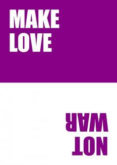Make Love, Not War | 180° | Echte Postkarten online versenden | MyPostcard.com