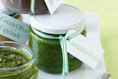 This tasty coriander pesto adds flavour to the simplest of pasta dishes.