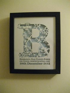 Samantha's Papercuts: Christening Gift