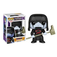 """From the Guardians of the Galaxy film comes this Funko Pop! Vinyl Guardians of the Galaxy Figure of Ronan the Accuser, who leads an army to hunt down Star-Lord (Peter Quill) and the rest of the team when they get between him and his nefarious plans. This chibi style vinyl figure stands about 3 3/4-inches tall and comes in a collectible window display box.  """"Your wretched peace treaty will not save you now. It is the tinder on which you burn."""" --Ronan the Accuser #nesteduniverse"""