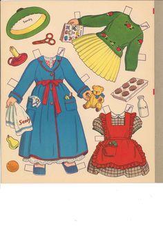 Big 'n' Easy Paper Dolls 'n' Clothes by Charlot Byi (7 of 8), Merrill #344210: Sandy & Candy