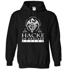 HACKE an endless legend - #tshirt diy #disney sweatshirt. MORE INFO => https://www.sunfrog.com/Names/HACKE-Black-84070719-Hoodie.html?68278