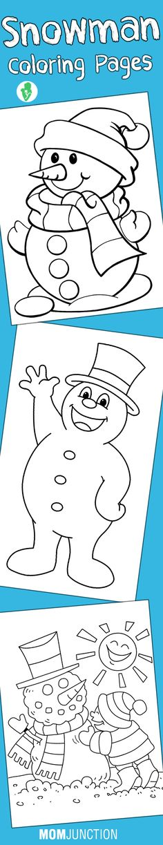 Top 10 Snowman Coloring Pages Your Toddler Will Love To Color