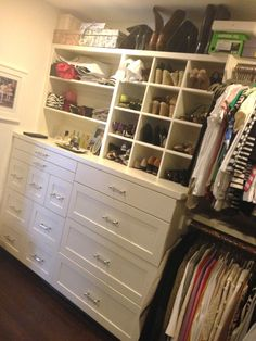 I love this closet design with all the storage -- C. Style: My Closet