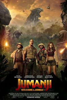 Jack Black, Kevin Hart, Dwayne Johnson, and Karen Gillan in Jumanji: Welcome to the Jungle 2018 Movies, Hd Movies, Movies To Watch, Movies Online, Movie Tv, Movies Free, Movie Blog, Indie Movies, Action Movies