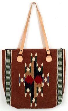 Maya Modern purses are handwoven of 100% wool. In a light brown abstract diamond design. #southwest #southwestern #western #purse #handwoven #wool #maya #elpasosaddleblanket #elpasosaddleblanketcompany