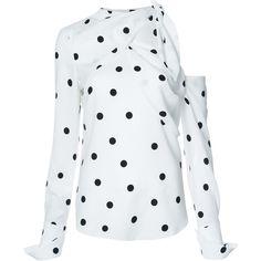 48aba598bdf8b Monse cold shoulder polka-dot blouse ( 1