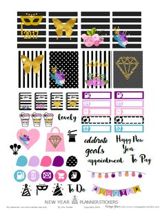 Hello blog followers and visitors! We are counting down to the New Year, and it's soooo close…. I designed this black, white and gold foil planner stickers for your Erin Condren (vertical) and other planners, of course. I hope you had a great year and I hope you are enjoying your holiday season! Thanks for … … Continue reading →