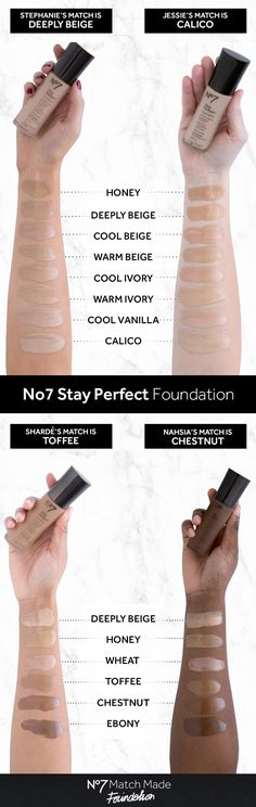 Lightweight and breathable, NEW No7 Stay Perfect foundation gives an even-toned, beautifully smooth complexion that looks and feels fresh all day long – now in 13 skin-true shades. #No7MatchMade