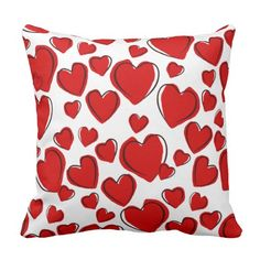 Red Hearts | Bed Pillow