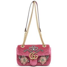 GUCCI 'Gg' Marmont Velvet Handbag With Patch ($2,815) ❤ liked on Polyvore featuring bags, handbags, purse bag, white handbag, gucci bags, patch purse and gucci